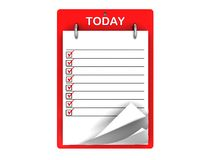 Today tasklist Royalty Free Stock Photo