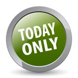 Today only. Web button - editable vector illustration on isolated white background royalty free illustration