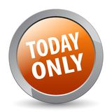 Today only. Web button - editable vector illustration on isolated white background stock illustration