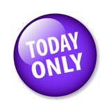 Today only. Web button - editable vector illustration on isolated white background vector illustration