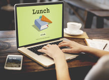 Today& x27; Rezept-Menü-Mittagessen-Konzept s spezielles schnelles Lizenzfreies Stockbild
