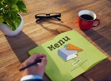 Today& x27; s Speciaal Snel de Lunchconcept van het Receptenmenu Stock Fotografie