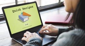Today& x27; s Speciaal Snel de Lunchconcept van het Receptenmenu Royalty-vrije Stock Afbeelding