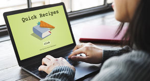 Today's Special Quick Recipes Menu LUnch Concept Royalty Free Stock Image