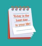 Todayen är den bäst dagen i ditt liv! Royaltyfria Foton