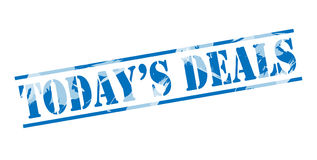 Todays deals blue stamp Royalty Free Stock Image
