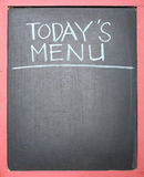 Todays Menu Handwriting Stock Photography