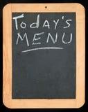 Todays Menu sign. Todays Menu written on blackboard stock photography