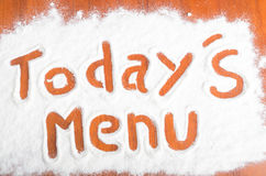 Todays menu sign, Flour Artwor Royalty Free Stock Photo