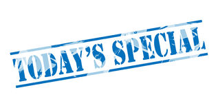Todays special blue stamp Royalty Free Stock Photos