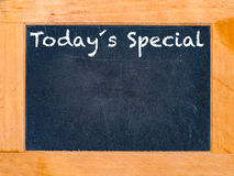 Todays Special chalk board. Vintage chalk table royalty free stock images