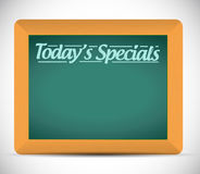 Todays specials written message illustration Stock Image
