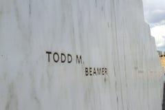 Todd Beamer sur le mur des noms images stock