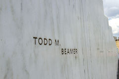 Todd Beamer on Wall of Names Stock Images