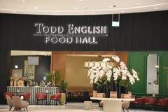 Todd English Food Hall at Fashion Avenue at Dubai Mall in Dubai, UAE royalty free stock images