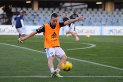Todd Kane leker med det Chelsea F.C. ungdomlaget mot F.C. Barcelona Royaltyfri Foto