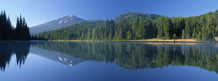 Todd Lake and Mount Bachelor Stock Images