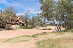 Todd River Basin Near Alice Springs Stock Image