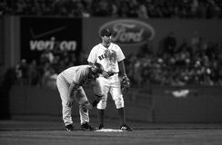 Todd Walker. Boston Red Sox 2B Todd Walker.   Image taken from a B&W negative Royalty Free Stock Photography