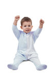 Toddle in pajamas. Isolated on white Stock Photo