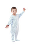 Toddle in pajamas. Isolated on white Stock Images
