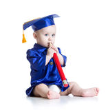 Toddler in academician clothes Royalty Free Stock Images