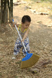 Toddler in action Royalty Free Stock Photo