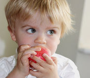Toddler apple Stock Photos
