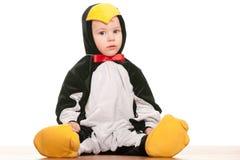 Toddler as a little penguin Royalty Free Stock Photos