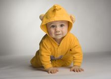 Toddler as a mouse Stock Images