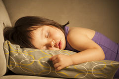 Toddler asleep Stock Photo