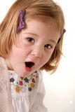 Toddler astonished surprise Royalty Free Stock Photos