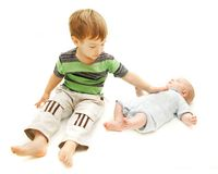 Toddler and baby Stock Images