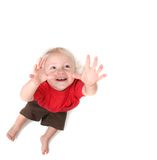 Toddler Baby Boy Reaching for the Sky Stock Photography