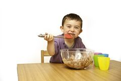 Toddler Baking Royalty Free Stock Images