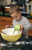 Toddler Baking Muffins Royalty Free Stock Photos