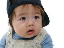 Toddler in baseball cap stock photos