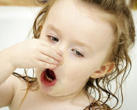 Toddler in the bath Royalty Free Stock Photography