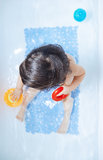 Toddler in the bath Stock Image