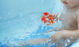 Toddler in the bath Stock Photography