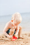 Toddler at a beach Royalty Free Stock Image