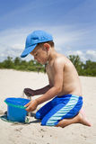 Toddler on the beach Royalty Free Stock Image