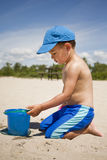 Toddler on the beach Stock Photos