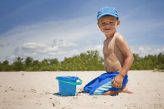 Toddler on the beach Royalty Free Stock Photo
