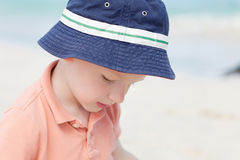 Toddler at the beach Royalty Free Stock Image