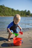 Toddler at Beach Stock Photography