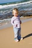 Toddler on beach Royalty Free Stock Photos