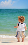 Toddler at Beach Royalty Free Stock Image