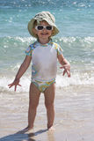 Toddler on the Beach royalty free stock photography