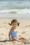 Toddler At Beach Stock Images